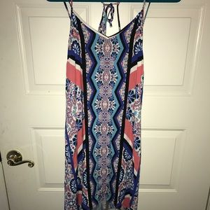 Dresses & Skirts - patterned high low dress